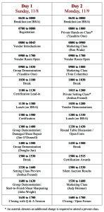 2015 Itinerary
